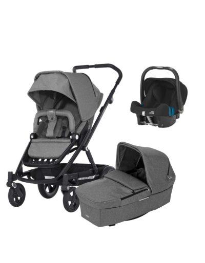 Britax Go Next Grey Melange med Babyskydd på köpet